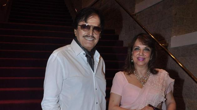 Sanjay Khan with wife Zarine.