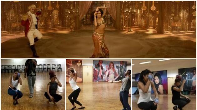 Katrina Kaif gets into the groove for Thugs of Hindostan's Suraiyya.(Video Grab)
