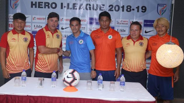Neroca FC take on East Bengal in the I-League encounter in Imphal.(AIFF)