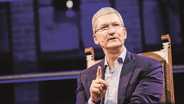The Apple CEO Tim Cook said he was happy about that distinction as well as his decision.(Bloomberg)