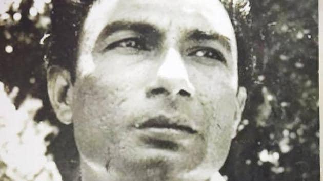 A rare photograph of Sahir Ludhianvi from the Sajjad Zaheer estate.