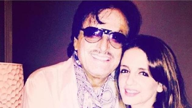 Sanjay Khan with daughter Sussanne Khan.