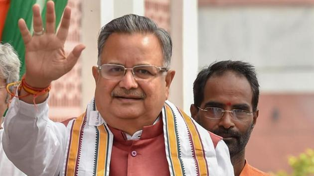 Chhattisgarh chief minister Raman Singh Saturday kickstarted the Bharatiya Janata Party's campaign for the assembly election from Konta constituency in Sukma district.(PTI File Photo)