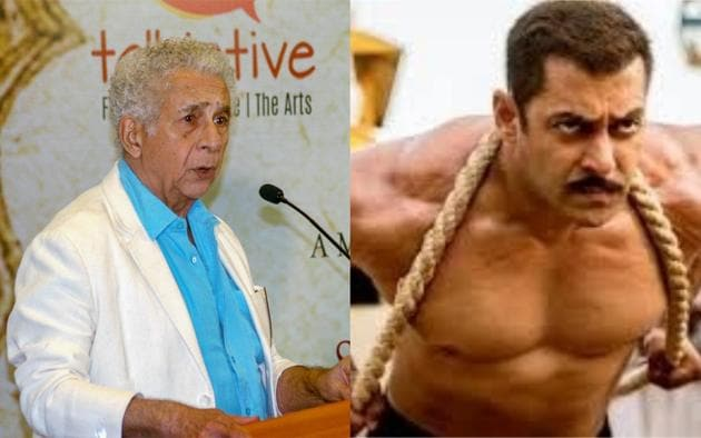 Naseeruddin Shah said that people shouldn't end up seeing only Salman Khan films 200 years later.(IANS)