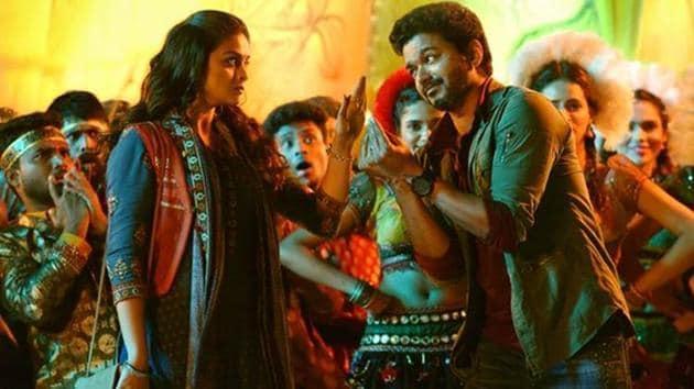 A still from Vijay-AR Murugadoss' upcoming movie Sarkar.