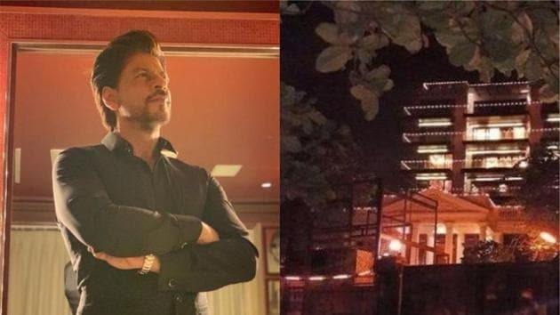 Shah Rukh Khan's Mannat has been decked up ahead of his birthday on November 2.(Instagram)