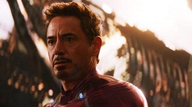 Robert Downey Jr as Iron Man in a still from Avengers: Infinity War.