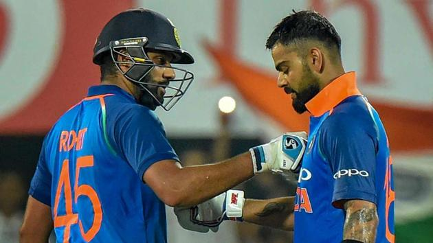 Virat Kohli and Rohit Sharma have five centuries between them in the series.(PTI)