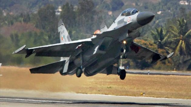 Indian Air Force's Sukhoi 30 plane.(PTI File Photo/Representative image)