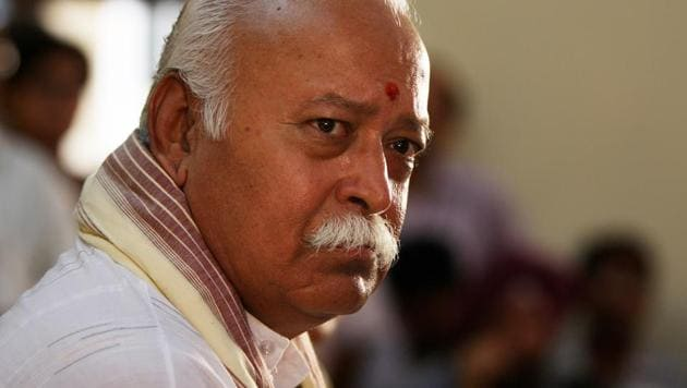 Mohan Bhagwat had first raised the demand for such a legislation at his annual Dassehra rally in Nagpur on October 18.(HT Photo)