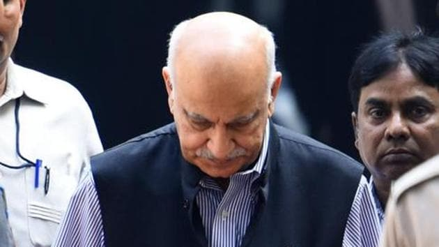 A US-based editor of a leading media house has accused former Union minister M J Akbar of raping her in India 23 years ago.(HT Photo)