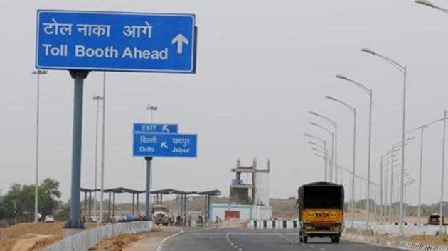 Gurgaon: Kundali Manesar Palwal Expressway 53.6 km stretch will be inaugurated by PM Modi(HT File)