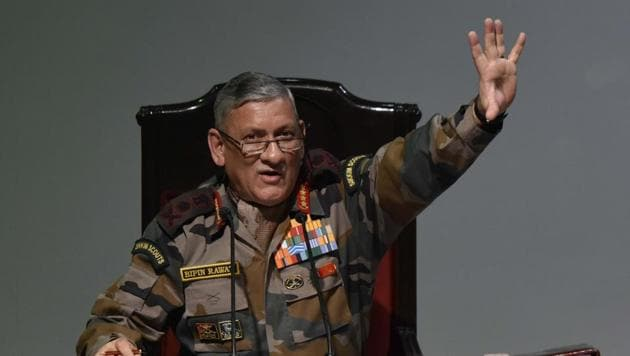 Army Chief Gen. Bipin Rawat on Saturday said attempts are being made through 'external linkages' to 'revive insurgency' in Punjab.(Vipin Kumar/HT Photo)