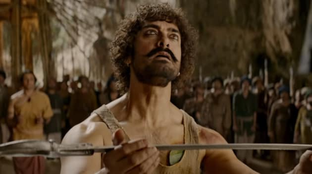 Aamir Khan in a still from Thugs of Hindostan. He plays the unethical Firangi Mallah in the film.