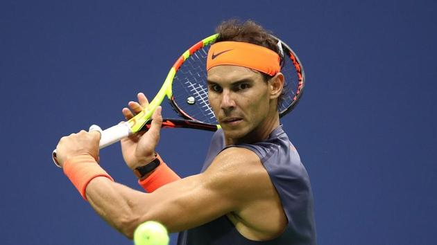 File image of tennis player Rafael Nadal in action during a match.(AFP)