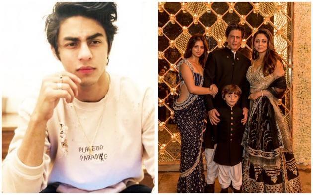 Aryan Khan was missing at Shah Rukh Khan and Gauri's star-studded Diwali bash.(Instagram)