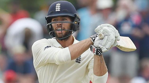 England's Ben Foakes plays a shot during the first day of the opening Test match between Sri Lanka and England at the Galle.(AFP)