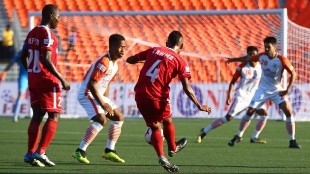 Neroca FC and Aizwal FC played out a goalless draw.(AIFF)