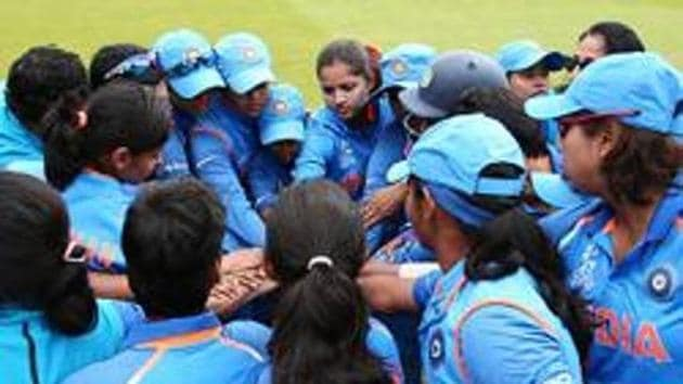 File image of players of Indian women's cricket team during a huddle ahead of a game.(Action Plus via Getty Images)