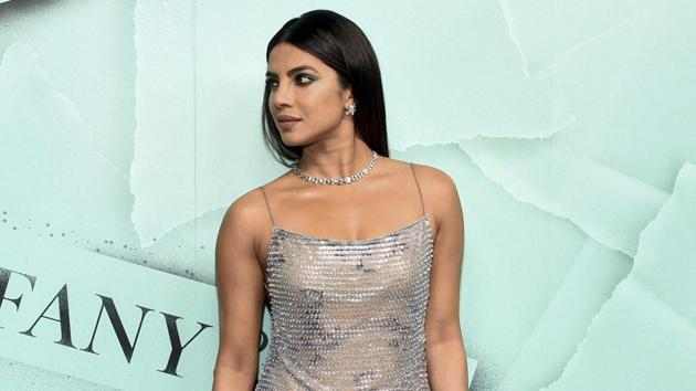 Priyanka Chopra attends the Tiffany & Co. 2018 Blue Book Collection: The Four Seasons of Tiffany celebration at Studio 525 on Tuesday.(AP)