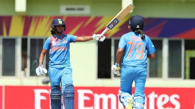 Harmanpreet Kaur led from the front in India's opening game of the World T20 against New Zealand.(Getty Images)