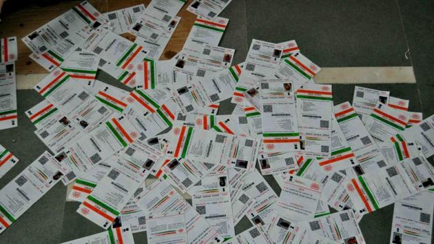As on September 30, more than 1.12 billion Aadhaar numbers have been generated.(HT File Photo)