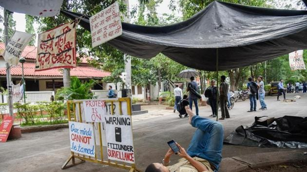 The students were on protest since August 21 this year protesting against faulty and inadequate infrastructure(HT FIle Photo)