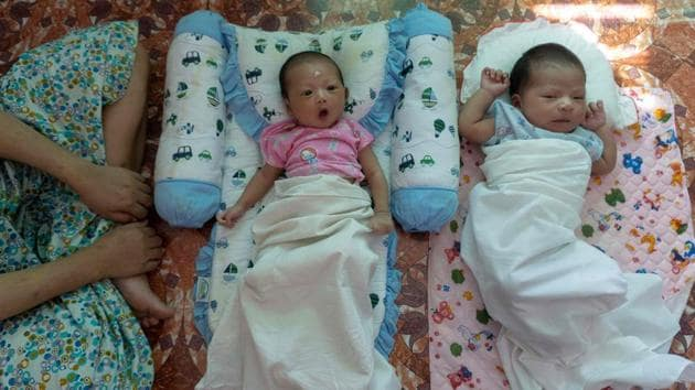 <p>Babies of unmarried women seen at the Myint Mo Myittar Single Mothers' Foundation in Yangon. More than 100 girls and women pass through the doors of the...