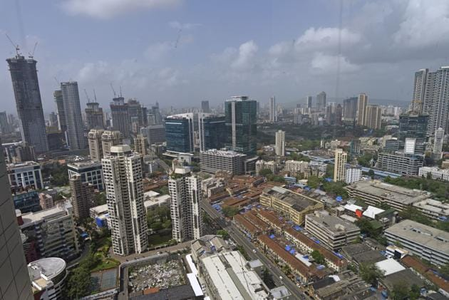 According to the new rules, which will significantly change Mumbai's skyline, work on plots that began with permissions before the DCPR 2034 came into effect, can calculate their potential based on the new rules(Pratik Chorge/HT Photo)