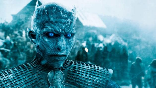 The villainous Night King in a still from Game of Thrones.
