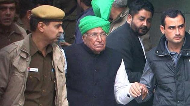 INLD party supremo Om Prakash Chautala.(PTI)