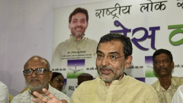 Rashtriya Lok Samata Party (RLSP) leader Upendra Kushwaha hit out at the Nitish Kumar government after another party leader was shot dead in the state. (File photo)(PTI)