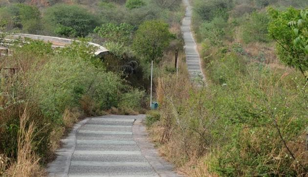 Aravalli Biodiversity Park at MG road. The amphitheatre inside the park occasionally hosts musical or cultural events, such as the annual Gurgaon Utsav.(HT File)