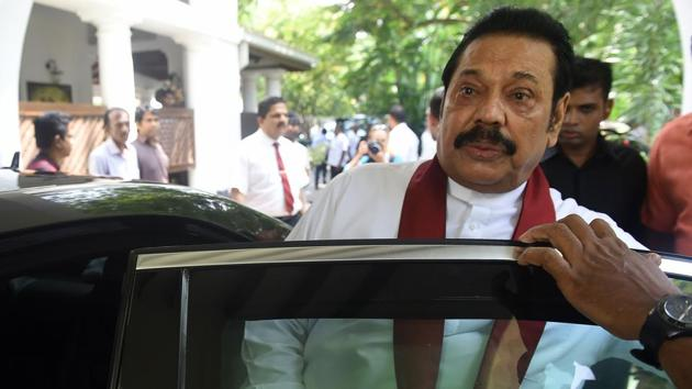 A majority of the 225-member assembly supported a no-confidence motion against Mahinda Rajapakse who was made prime minister on October 26 in place of Ranil Wickremesinghe.(AFP)