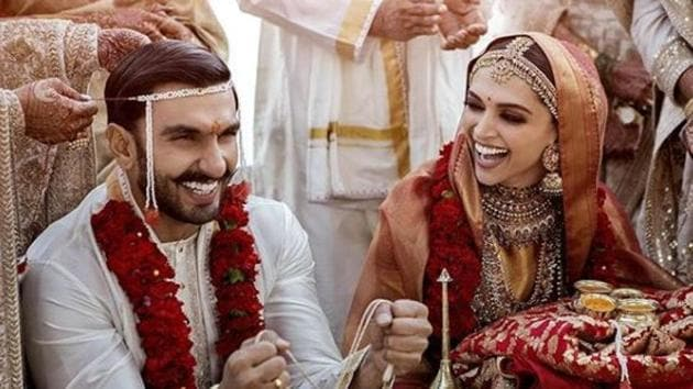Official Deepika Padukone and Ranveer Singh wedding photos are finally here.(Instagram)