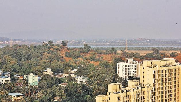 TMC plans to develop New Thane on the other side of the creek.(HT Photo)