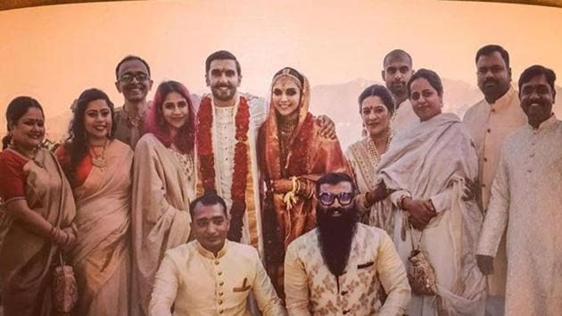 This picture from Deepika Padukone and Ranveer Singh's wedding was shared by stylist Nitasha Gaurav.