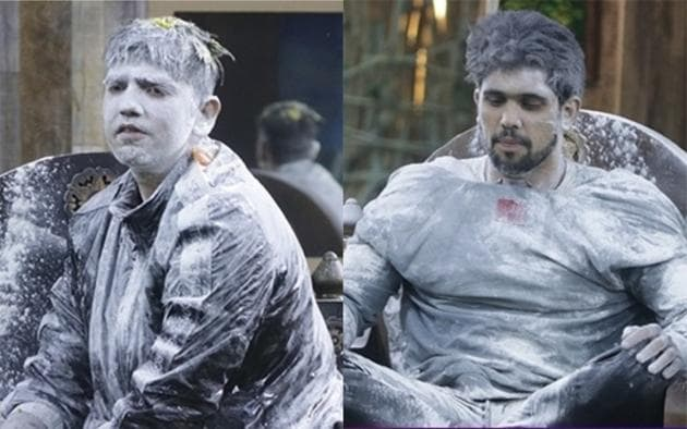 Romil Chaudhary and Shivashish Mishra faced all odds to survive during the captaincy task in the Bigg Boss house.(Twitter)