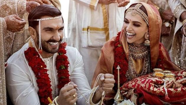 After a long suspense, Deepika Padukone and Ranveer Singh finally shared some wedding photos on Instagram.(Courtesy: Instagram)