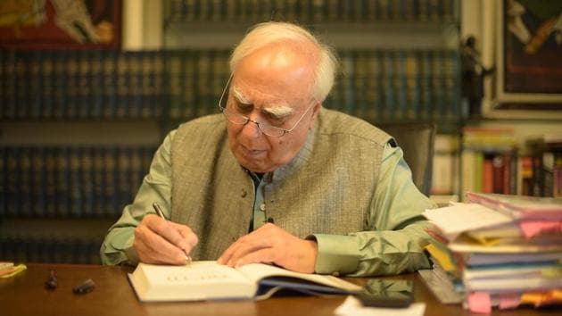 Kapil Sibal is a successful lawyer turned politician, rich enough to be able to spend a few lakhs to acquire a painting by MF Husain and a poet who writes in three languages.(HT Photo)