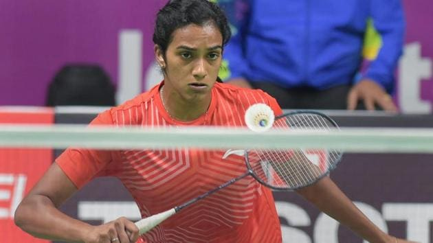 PV Sindhu plays against Chinese (TPE) player Tai Tzu Ying in the women's singles badminton final.(PTI)
