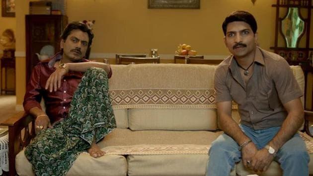Nawazuddin Siddiqui and Jatin Sarna as Ganesh Gaitonde and Bunty from Sacred Games.