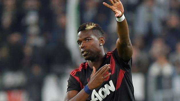 Paul Pogba missed Manchester United's 3-1 defeat to Manchester City with injury.(REUTERS)