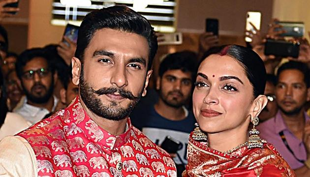 Ranveer Singh and Deepika Padukone tied the knot in Italy on November 14 and 15 as per Konkani and Sikh wedding rituals.(AFP)
