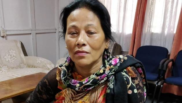 Agnes Kharshiing, 58, has been documenting illegal mines and trucks carrying coal by travelling across the state(John F Kharshiing)