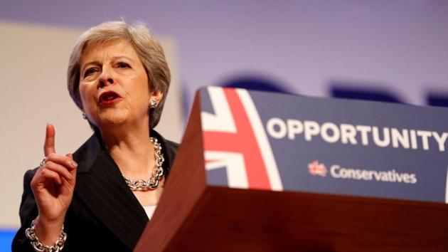UK prime minister Theresa May comes to Brussels on Wednesday to fine tune the terms of the Brexit divorce.(HT File Photo)