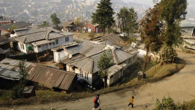 A view of Kohima city in Nagaland.(Samir Jana/HT File Photo)