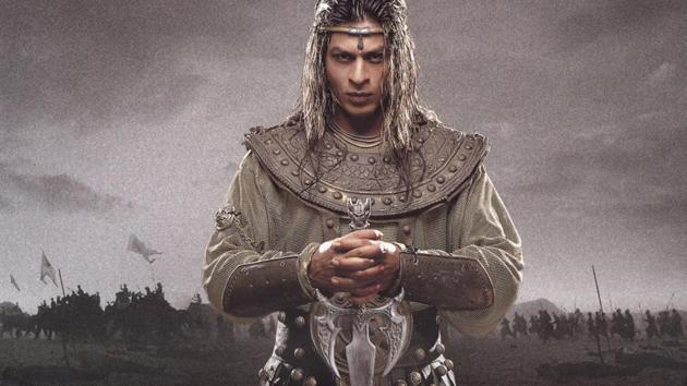 Shah Rukh Khan in Asoka. The film was released in 2001.