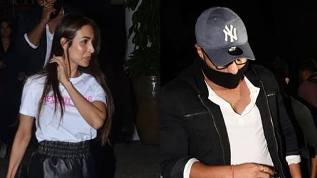 Arjun Kapoor and Malaika Arora spotted together in Juhu.(Viral Bhayani)