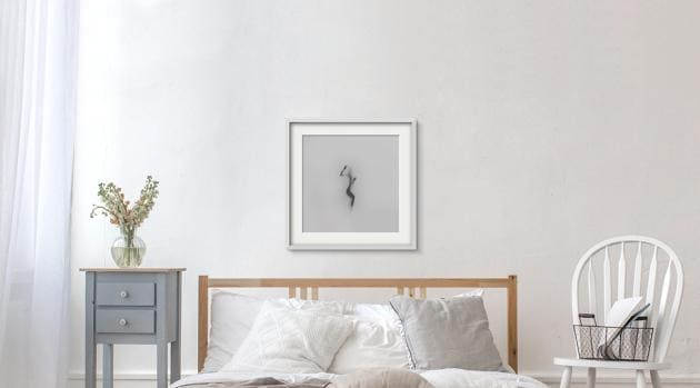 In rental, purchase or subscription models, art collectors can choose works such as Sunday Humid by Pulkit Kamal (above). Some clients have fixed slots on the walls of their offices and homes where they rotate art works, or replace them every few months.(Image courtesy Floating Canvas Co)